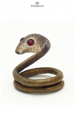 Anneau de pénis Bira : Un cobra en bronze prêt à bondir pour enserrer votre gland et hypnotiser votre entourage.