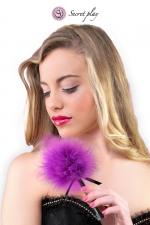 Plumeau 18 cm violet